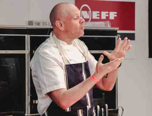 Crowds pack Festival Cookery Theatre for Tom Kerridge